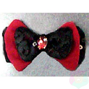 Triple Bow Tie with Rhinestone