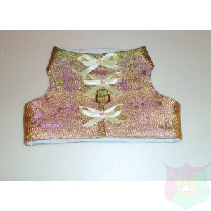 "Satin Brocade Couture Mini Vest ""Dominique"""