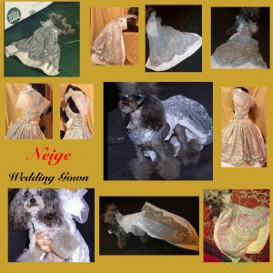 "Wedding Gown ""Neige"" For A Pet By Joanna Aqua"